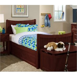 NE Kids School House Taylor Storage Bed in Cherry-MER-1211-52