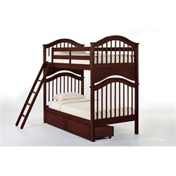 NE Kids School House Jordan Storage Slat Bunk Bed-MER-1211-76