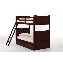 NE Kids School House Taylor Storage Bunk Bed in Cherry-MER-1211-80