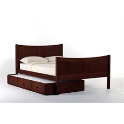 NE Kids School House Taylor Bed with Trundle in Cherry-MER-1211-29