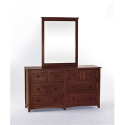 NE Kids School House 6 Drawer Dresser and Mirror-MER-1211-108