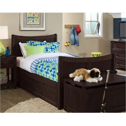 NE Kids School House Taylor Storage Bed in Chocolate-MER-1211-53