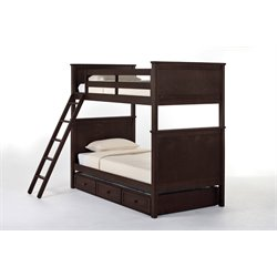 NE Kids School House Casey Panel Bunk Bed with Trundle-MER-1211-125