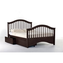 NE Kids School House Jordan Storage Slat Bed in Chocolate-MER-1211-123
