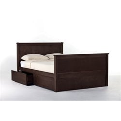 NE Kids School House Casey Storage Panel Bed in Chocolate-MER-1211-22