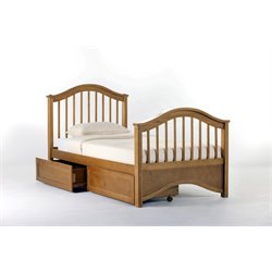 NE Kids School House Jordan Storage Slat Bed in Pecan-MER-1211-19
