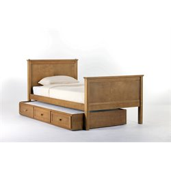 NE Kids School House Casey Panel Bed with Trundle in Pecan-MER-1211-27