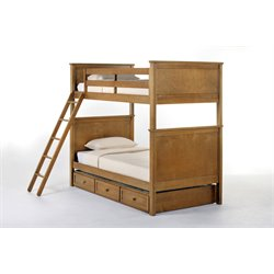 NE Kids School House Casey Panel Bunk Bed with Trundle-MER-1211-126