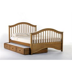 NE Kids School House Jordan Slat Bed with Trundle in Pecan-MER-1211-16