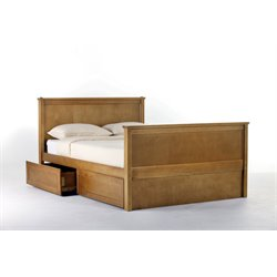 NE Kids School House Casey Storage Panel Bed in Pecan-MER-1211-23