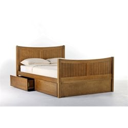 NE Kids School House Taylor Storage Bed in Pecan-MER-1211-54