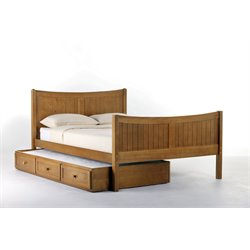 NE Kids School House Taylor Bed with Trundle in Pecan-MER-1211-31