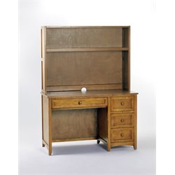 NE Kids School House 3 Drawer Computer Desk in Pecan-MER-1211-137
