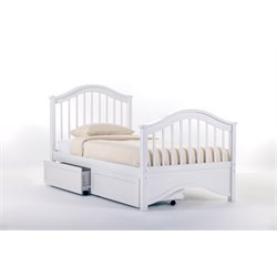 NE Kids School House Jordan Storage Slat Bed in White-MER-1211-20