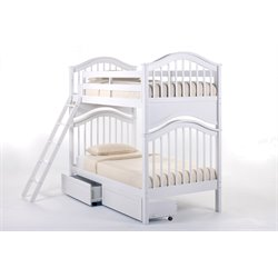 NE Kids School House Jordan Storage Slat Bunk Bed-MER-1211-79