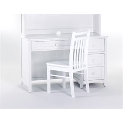 NE Kids School House 3 Drawer Computer Desk in White-MER-1211-138