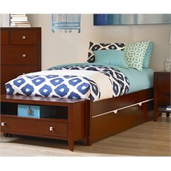 NE Kids Pulse Platform Bed with Trundle in Cherry-MER-1211-40