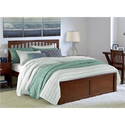 NE Kids Pulse Slat Bed in Cherry-MER-1211-94
