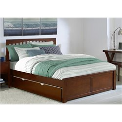 NE Kids Pulse Slat Bed with Trundle in Cherry-MER-1211-41