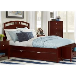 NE Kids Pulse Bed with Trundle in Cherry-MER-1211-42