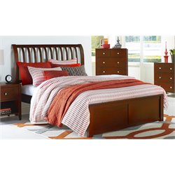 NE Kids Pulse Sleigh Bed in Cherry-MER-1211-96