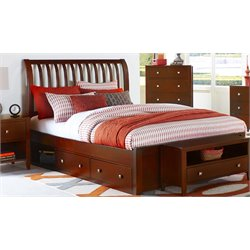 NE Kids Pulse Storage Sleigh Bed in Cherry-MER-1211-60