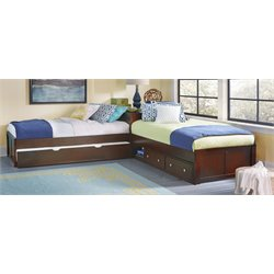 NE Kids Pulse Twin L Shaped Bed in Cherry-MER-1211-132
