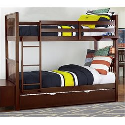 NE Kids Pulse Slat Bunk Bed with Trundle in Cherry-MER-1211-49