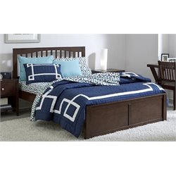 NE Kids Pulse Slat Bed in Chocolate-MER-1211-99