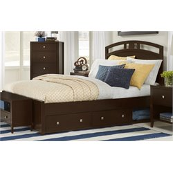 NE Kids Pulse Storage Bed in Chocolate-MER-1211-68