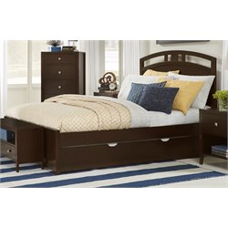 NE Kids Pulse Bed with Trundle in Chocolate-MER-1211-45