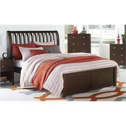 NE Kids Pulse Sleigh Bed in Chocolate-MER-1211-101