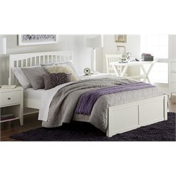 NE Kids Pulse Slat Bed in White-MER-1211-104
