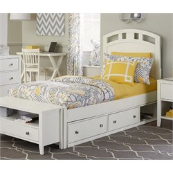 NE Kids Pulse Storage Bed in White-MER-1211-71