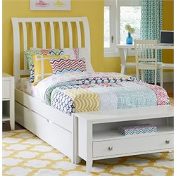 NE Kids Pulse Sleigh Bed with Trundle in White-MER-1211-39