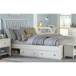 NE Kids Pulse Storage Sleigh Bed in White-MER-1211-62