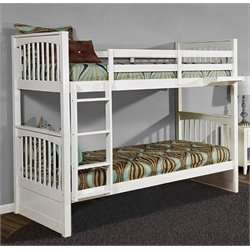 NE Kids Pulse Slat Bunk Bed in White-MER-1211-107