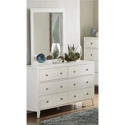 NE Kids Pulse 6 Drawer Dresser And Mirror in White