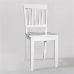 NE Kids School House Chair in White