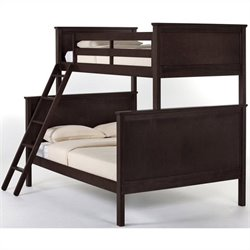 NE Kids School House Twin over Full Bunk Bed in Chocolate