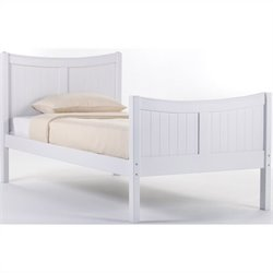 NE Kids School House Taylor Bed in White