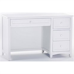 NE Kids School House Desk in White