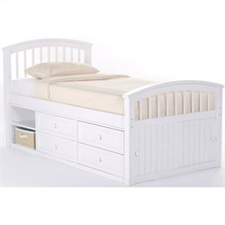 NE Kids School House Captain Bed in White