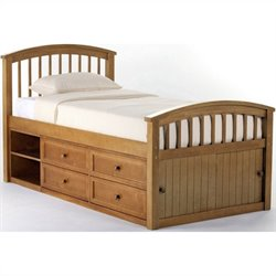 NE Kids School House Captain Bed in Pecan