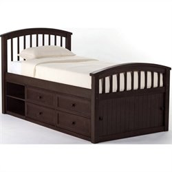 NE Kids School House Captain Bed in Chocolate