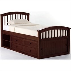 NE Kids School House Captain Bed in Cherry