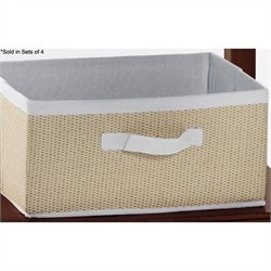 NE Kids School House Seagrass Drawer in Cotton (Set of 4)