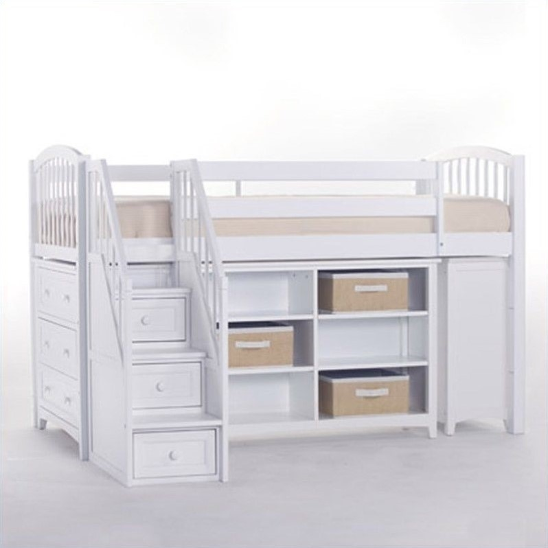 Ne Kids School House Storage Junior Loft Bed With Stairs