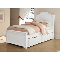 NE Kids Walnut Street Morgan Arch Bed with Trundle