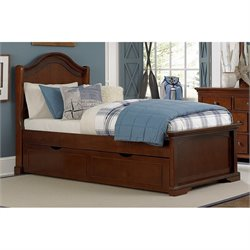 NE Kids Walnut Street Morgan Arch Bed with Trundle 1